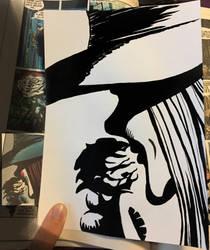 V for Vendetta Enlarged study 4 by Kwilia