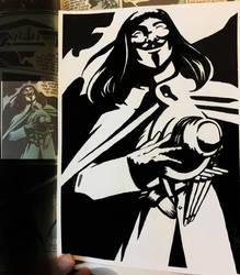 V for Vendetta Enlarged study 5 by Kwilia
