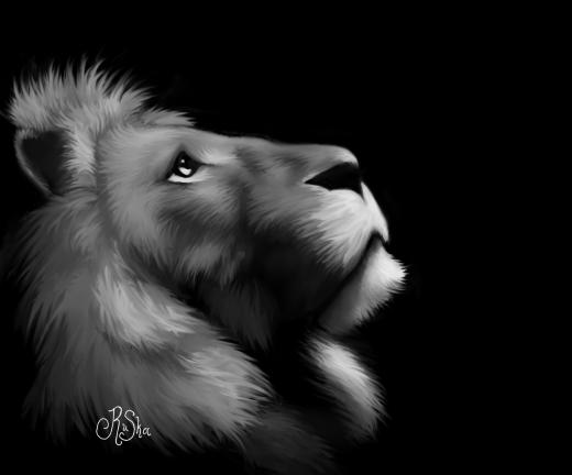 Lion Speedpaint by Kwilia