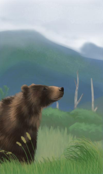 Bear speedpaint by Kwilia