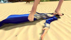 Beach toweled 4 by doormatlizardess3