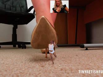 Tiny at Office 4 by twoinchtallman