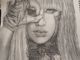 Lady GaGa Portrait by Firespirit7
