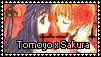 Tomoyo x Sakura stamp by SweetTails247