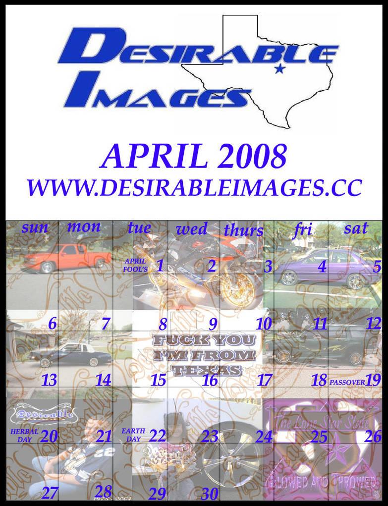 April 2008 Di Calendar By Halosimage On Deviantart