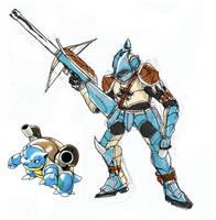 Pokemonster Hunter Blastoise by tRickityhouses