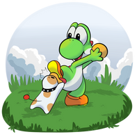 Day 2 Yoshi and Poochy by Entin