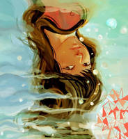 lady in the water by monyetbuluk