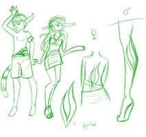 Leefz Kids Sketch by ShadowFleur