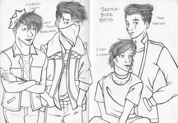 Sketchbook Boys by ObnoxiouslyAlyks