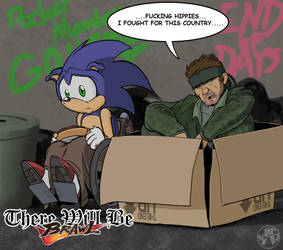 TWBB - Sonic and Solid Snake by JustinGreene