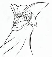 Forte/Bass.EXE (Mega Man/Rockman) (Inktober) by JustinGreene