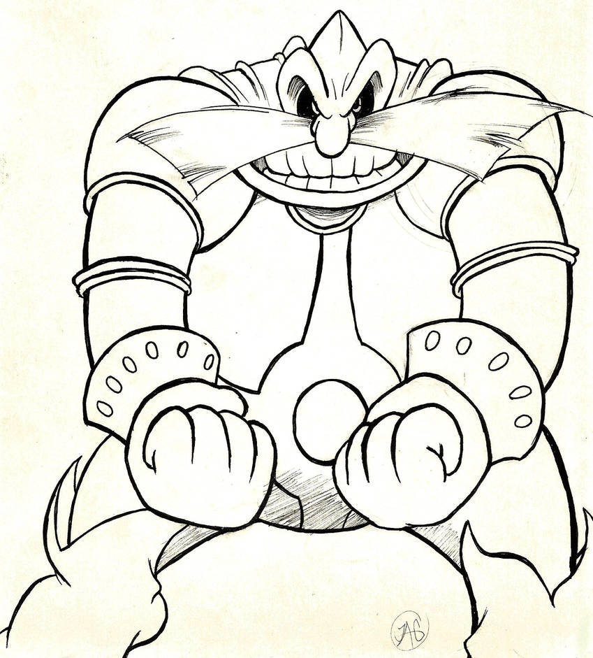 Robotnik - Sonic the Comic/AoStH (Inktober) by JustinGreene