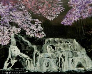 Cherry-blossoms-at-night by ravinsilverlock