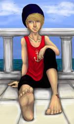 By the sea by Melmolly