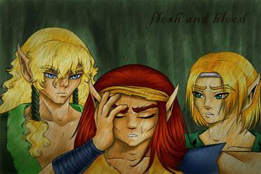 Flesh and Blood - Illustration by kyntha