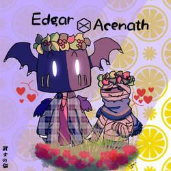 Edgar and Acenath [Original by me] by BushiNoNeko