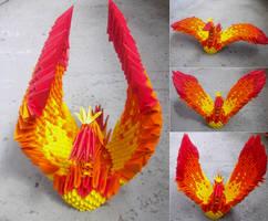 Phoenix - 3D Origami by SophieEkard