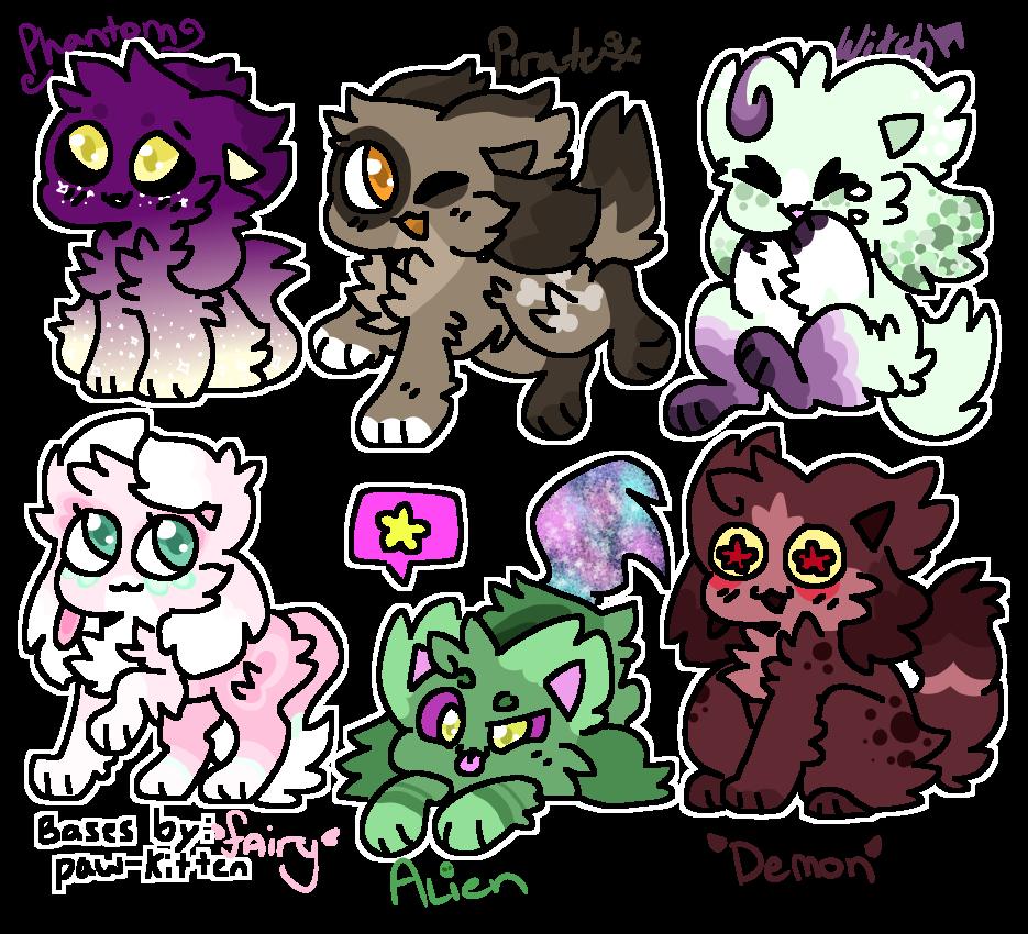 Halloween Costume Kittydog Adopts! {0/6] CLOSED by Blume-Doom