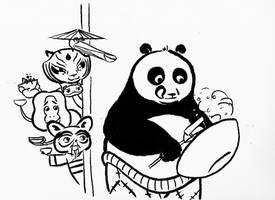 Kung Fu Panda Fried Rice by LizardLife
