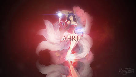 Ahri Wallpaper by Furydeath2