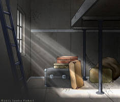 Card Game Illustration: Lost Luggage by Wundertastisch