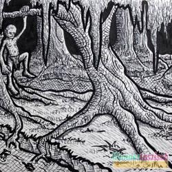 Inktober #26 - Jungle-Swamp-Thingy by Wundertastisch