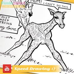 INKTOBER #31 - Speed Drawing Video - Baby Giraffe by Wundertastisch