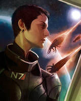 Commander Shepard by Brendavid