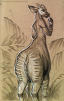 Draw a centaur day  - Okapi-taur Monica by Brendavid