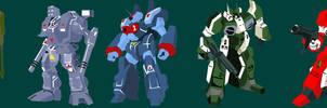 Robotech Mecha Showcase by mfn