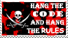 Hang the Rules Stamp by DarthRegina125