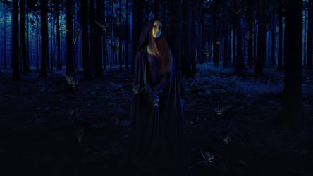 Lady In The Woods by themartianx