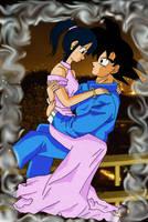 Goku and Chi-Chi by hagane-no-angel