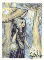 Dusk, wandering ACEO by myceliae