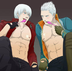Dante Vergil's Yogurt Night by doubleleaf