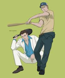 Nick and Ellis by doubleleaf