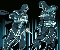 Assassins in TRON by doubleleaf