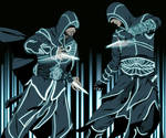Assassins in TRON by doubleleaf