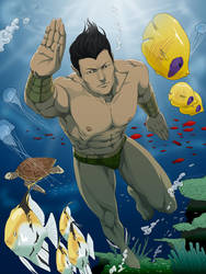 Commission:Namor by doubleleaf