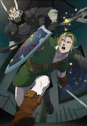Link vs Phantom Ganon by doubleleaf