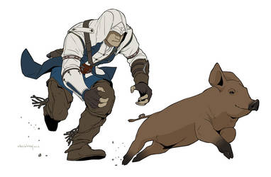 Mission Piggy Chase by doubleleaf