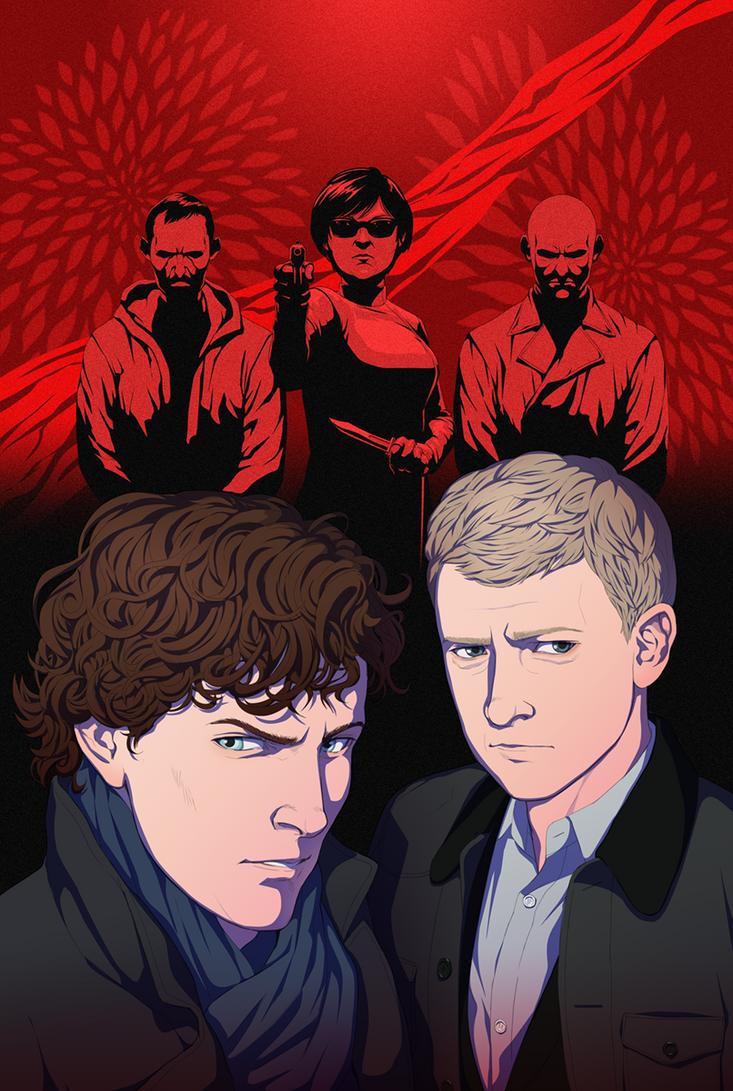 Titan Comics: Sherlock The Blind Banker #6 Cover by doubleleaf