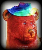 Bear with a Tye Dye hat by path2000