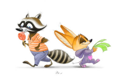 Art of Nik - 060. Procyon and Finnick by nik159