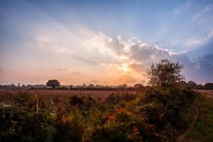 Sunset Down on the Farm by snomanda