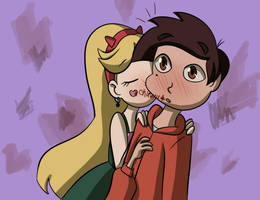 STARCO Request #3: Cheek kiss. by DarkJazmin11