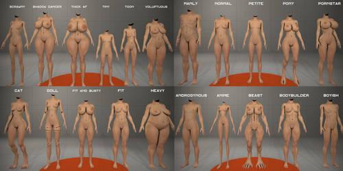 Alan13's  21 Bodytypes pack (Gmod, SFM, Blender) by 13alan13