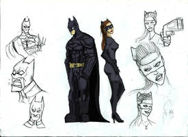 THE BAT AND THE CAT DOUBLE SKETCH by Sabrerine911