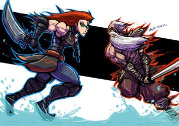 VAMPIRE HUNTER VS TWISTED CLAN LEADER by Sabrerine911